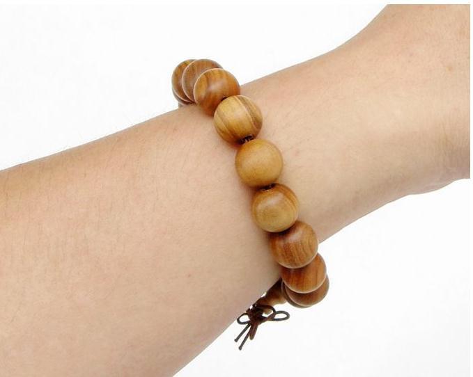 Free Shipping -  good luck Tibetan natural Yellow sandalwood Prayer Beads charm
