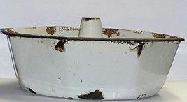 Vintage 8 Sided Porcelain Bakeware Tube Cake Pan - ₨1,452.87 INR