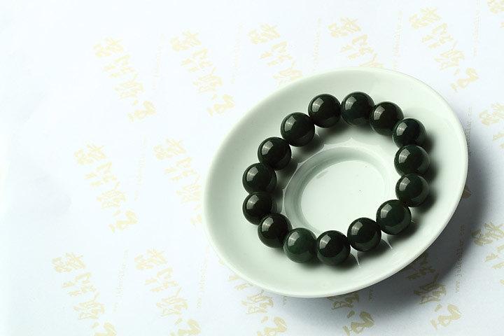 Free Shipping -  12mm  Grade AAA Natural dark Green jadeite Jade Meditation yoga