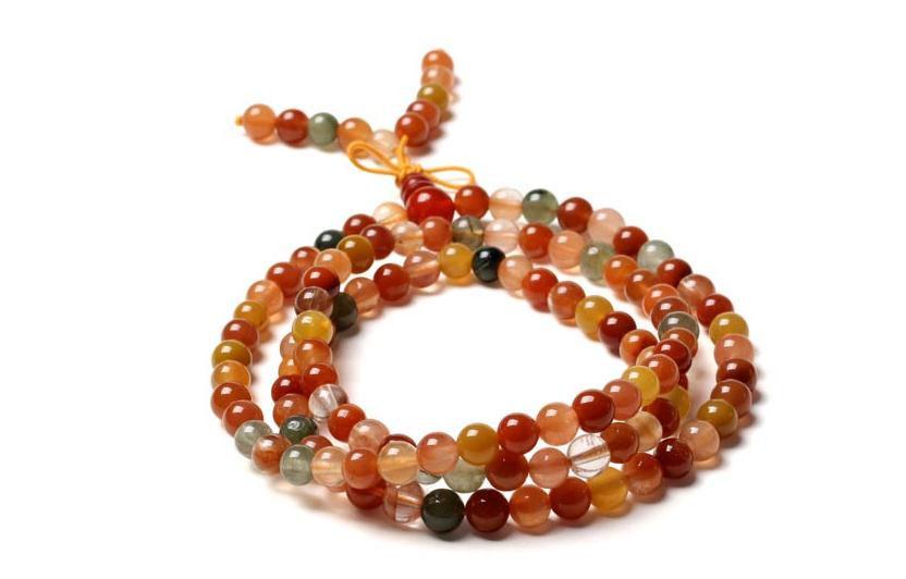 Free shipping - Tibetan natural Red Aventurine jade Yoga Meditation 108 beads Pr