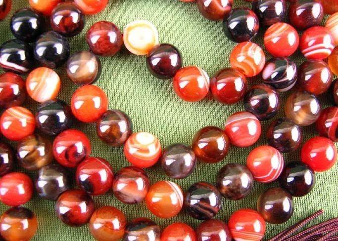 Free Shipping - 10 mm natural Red Tiger Eye 108 Beads meditation  yoga Prayer be