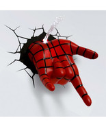 Marvel 3D Wall Nightlight - Spiderman Hand Cool Awesome Fun Action Figur... - $44.44