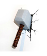 Marvel 3D Wall Nightlight Thor Hammer Cool Awesome Fun Action Figure Sma... - $44.54