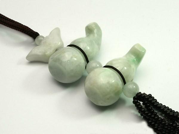 Free Shipping - PERFECT HAND-KNITTED Burma  Green  Calabash Jadeite Jade charm p
