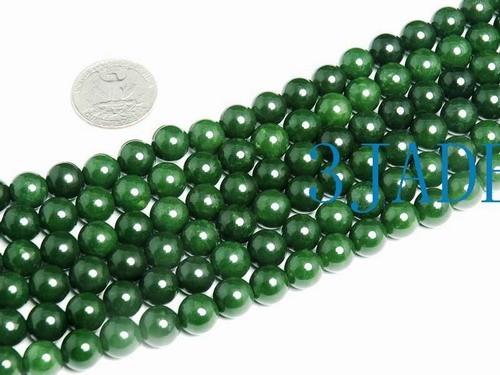 Free Shipping - 42 Inches 10mm bead Taiwan natural green Jade 108 Prayer Beads M