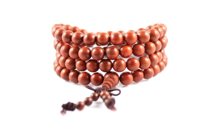 Free Shipping -  7mm 100% natural red sandalwood  meditation yoga 108  Beads Pra