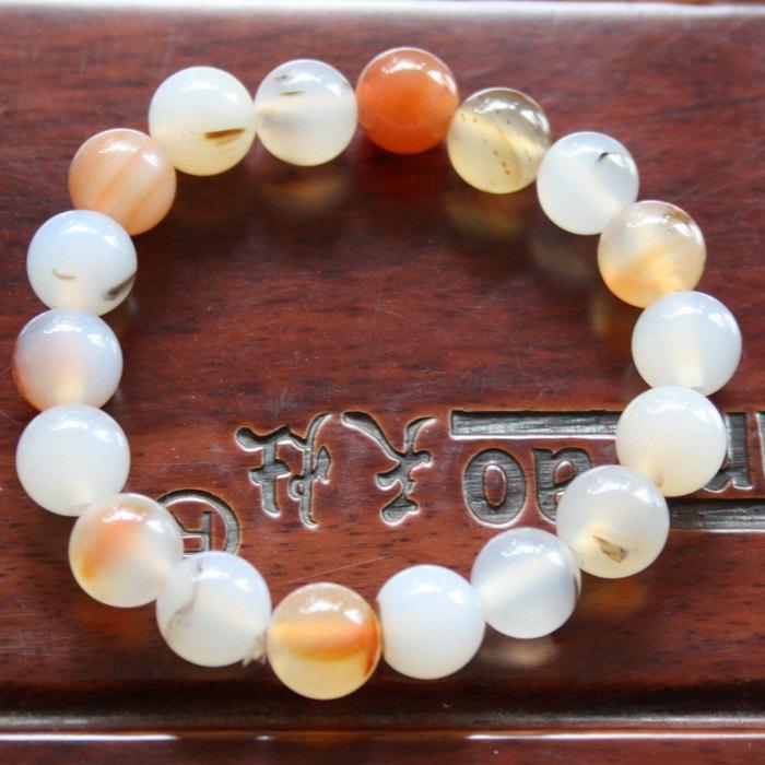 Free Shipping - good luck AAA natural agate meditation yoga  Prayer beads charm