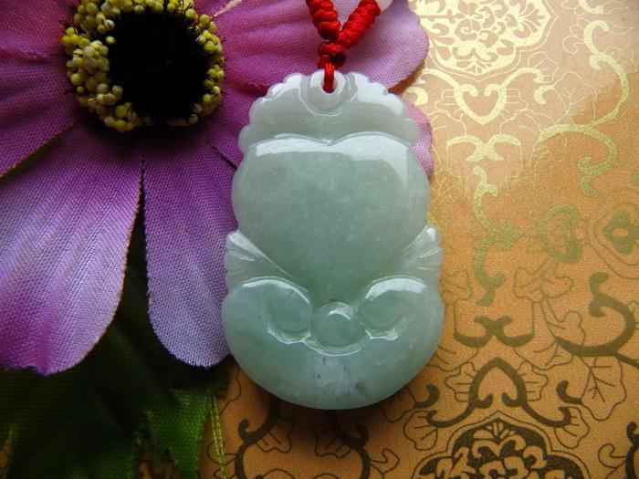 Free Shipping - 2012 Year Burma Jadeite Jade  Natural green Jadeite Jade Zodiac