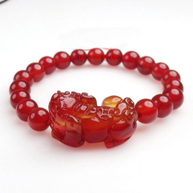 Free Shipping - good luck Hand carved natural Red agate / natural Carnelian '' P