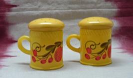 Vintage Retro Avon Patchwork Collection  Salt & Pepper Shaker Set - $10.00