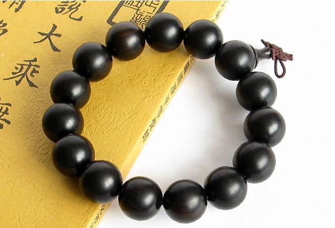 Free Shipping - Tibetan Buddhism  natural black sandalwood Prayer Beads charm br