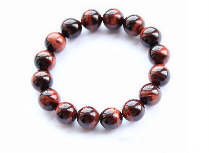 Free Shipping - perfect Natural Red  tiger eye STONE Prayer Beads charm bracelet