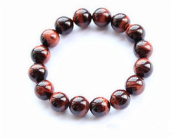 Free Shipping - perfect Natural Red  tiger eye STONE Prayer Beads charm bracelet - $25.99