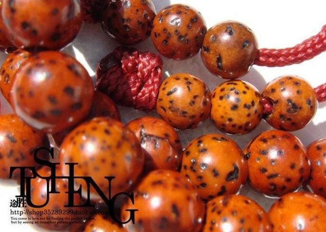 Free Shipping -  Tibetan natural Red Bodhi Seeds Mala  Meditation yoga 108 Praye