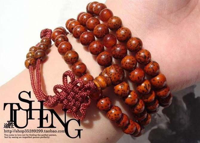 Free Shipping -  Tibetan natural Red Bodhi Seeds Mala  Meditation yoga 108 Praye