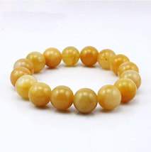 Free Shipping -  good luck natural yellow agate Prayer Beads charm bracelet - $20.00