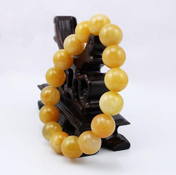Free Shipping -  good luck natural yellow agate Prayer Beads charm bracelet