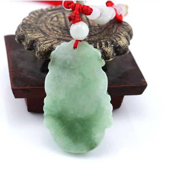 Free Shipping - 2012 Year - good luck Amulet Natural  green Jadeite Jade  Dragon