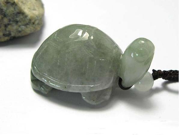 Free Shipping - good luck Natural white jade carved sea Turtle charm Pendant
