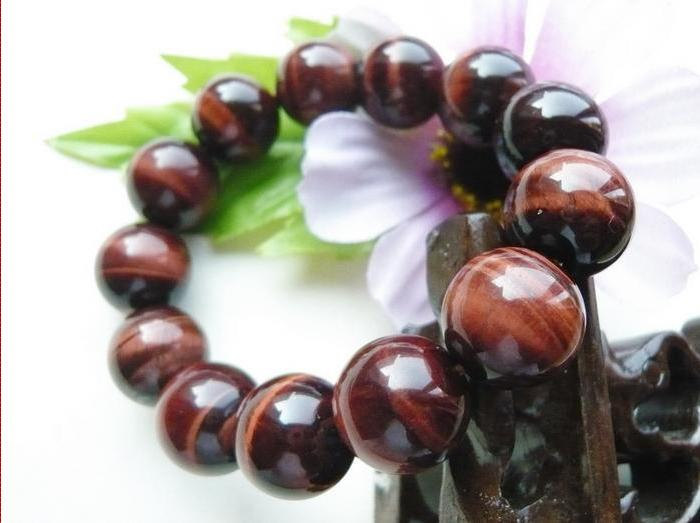 Free Shipping -  Hand carved beads  Natural RED  tiger eye STONE Prayer Beads ch