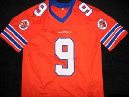 Bobby Boucher #9 The Waterboy Movie Football Jersey Orange Any Size image 4