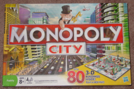 MONOPOLY CITY WITH 80 3D BUILDINGS GAME 2009 HASBRO COMPLETE EXCELLENT - $30.00