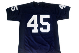Ruettiger #45 Rudy Movie Never Quit Football Jersey Navy Blue Any Size image 5