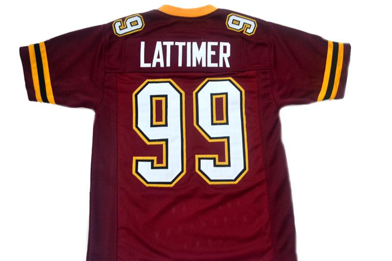 Lattimer #99 The Program Movie Football Jersey New Sewn Maroon Any Size