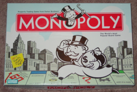 MONOPOLY PROPERTY TRADING GAME 2004 PARKER BROTHERS HASBRO COMPLETE EXCE... - $15.00