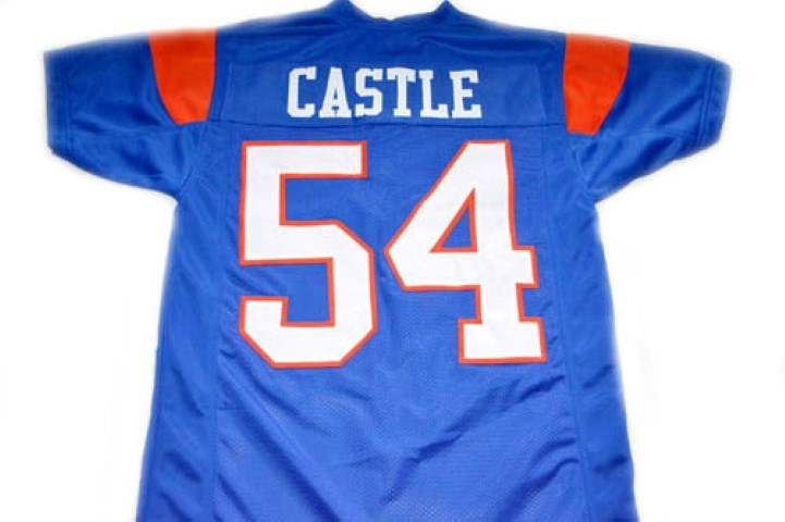 Kevin Thad Castle #54 Blue Mountain State Movie Football Jersey Blue Any Size