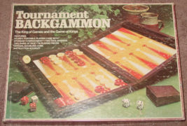 BACKGAMMON TOURNAMENT BACKGAMMON GAME 1978 LOWES MILTON BRADLEY COMPLETE... - $15.00