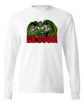 Dr. Doom long sleeve T-shirt Free Shipping vintage comic superhero retro tee image 2