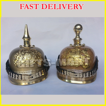 New Year Presents 2 Pcs German Pickelhaube Helmet. AG1 - $229.99