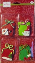 Holiday Inspirations - Clay Ornaments - Christmas Gifts - pk of 4 - $4.99