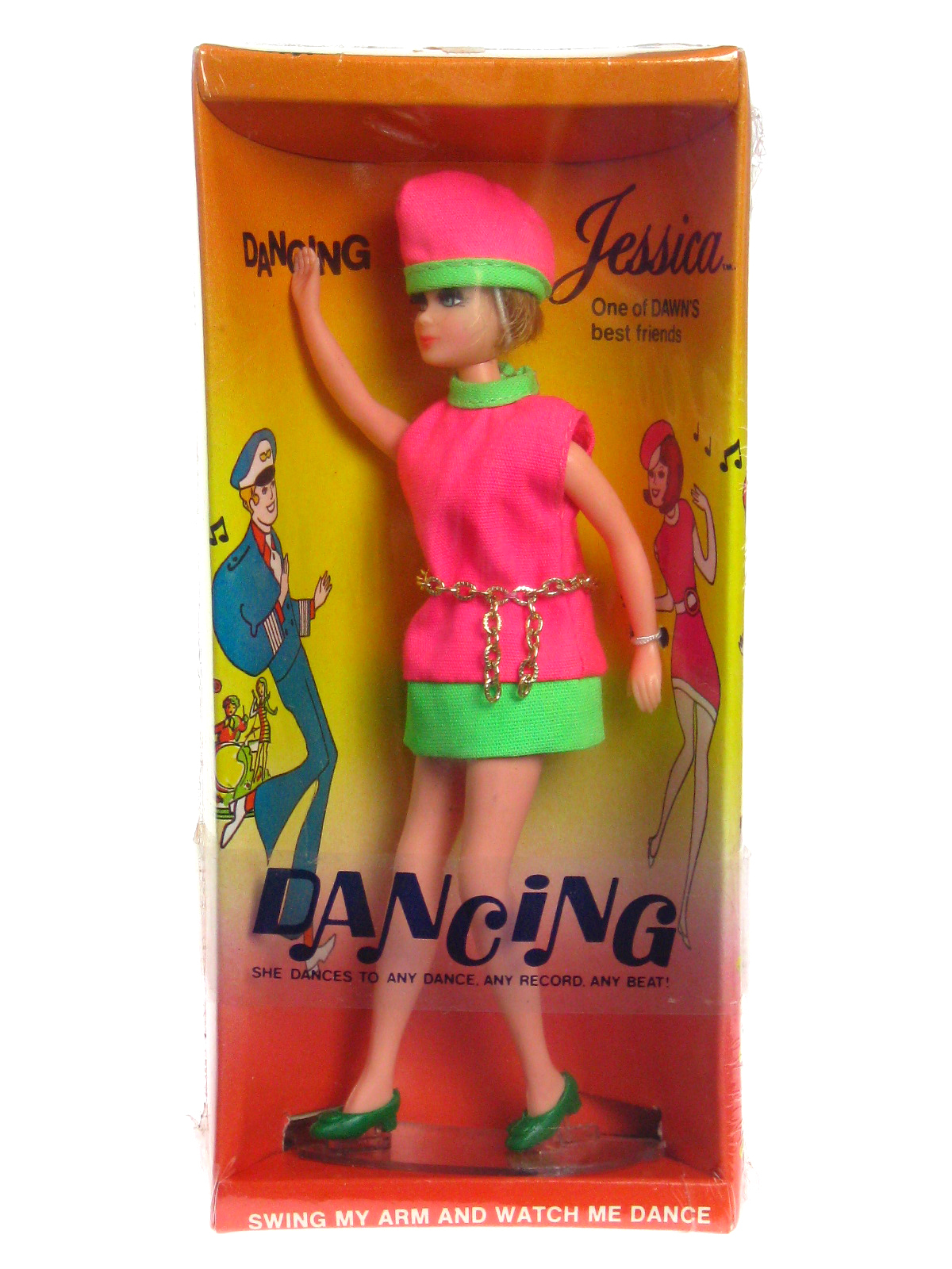 Vintage 1970 Topper Dawn Doll Dancing Jessica Mod NRFB Mint New Factory Sealed  - $174.99