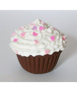 """Chocolate Cupcake Pink Heart Sprinkles - doll food American Girl and 18"""" dolls - $3.49"""