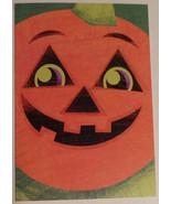 "Greeting Halloween Card ""Trick or Treat Hope it's sweet! Happy Halloween!"" - $1.50"