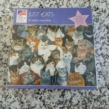 New, Sealed - JUST CATS 1000 Piece Puzzle by Helen Vladykina - $12.49