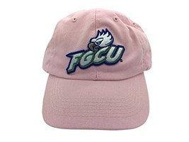 FGCU Florida Gulf Coast University Eagles Pink Hat Cap with Leather Strap - $19.80