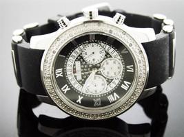 JoJino Men's 47mm 0.25ct Diamond Watch  MJ1184 Black band - $4.287,79 MXN