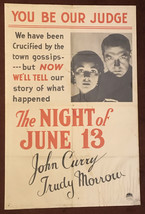 * THE NIGHT OF JUNE 13 (1932) One-Sheet Poster Clive Brook & Francis Dee - $149.99