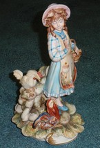 Capodimonte Mariani Figurine #176 Farm Girl With Chickens Italy GREAT GIFT! - $63.04