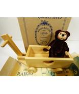 Set Wee Whittles Robert Raikes Julian & Wagon BEAR Mint box Signed COA 3... - $153.45
