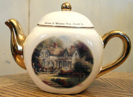 Collectible Thomas Kinkade Porcelain Teapot Home is Where the Heart Is I... - $19.78