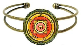 Solomons 5th Venus Seal for Inciting Love & Attraction Gold Bronze Cuff ... - $14.95