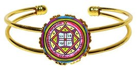 Solomons 4th Seal of Venus to Make One Come to You Gold Cuff Bracelet - $14.95