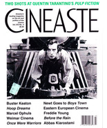 BUSTER KEATON - Cineaste - Vol.XXI, No. 3 1995 - 'Pulp Fiction' & Tarantino - $1.95