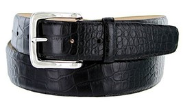 Valley View Women's Designer Leather Dress Belt (Alligator Black, 54) - $29.69