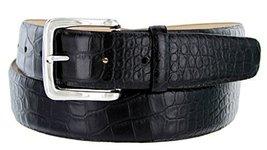 Valley View Men's Designer Leather Dress Belt (Alligator Black, 54) - $29.69