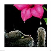 Tile Coaster from original art painting Cat 513 - $13.99